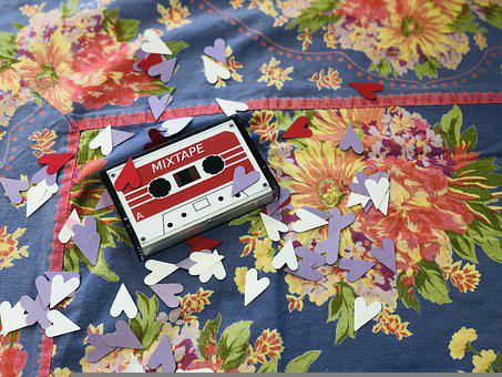 Mixtape, Vintage, Valentine, Cassette, Tape, Music