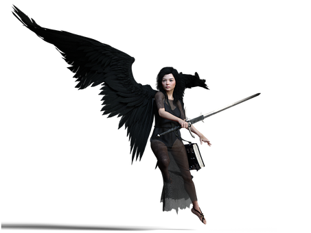 Dark Angel, Woman, Fantasy, Sword, Angel, Wings, Female