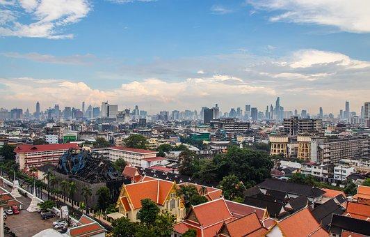 Bangkok, Thailand, Asia, Culture, City, Backpack