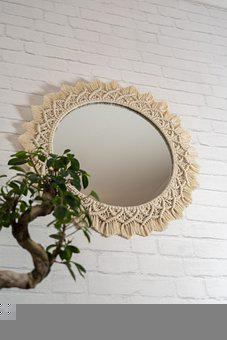 Macrame Trade, Macrame, Macrame Mirror, Decor, Diy