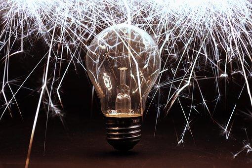 Sparkler, Lamp, Light, Pear, Lighting, Light Bulb