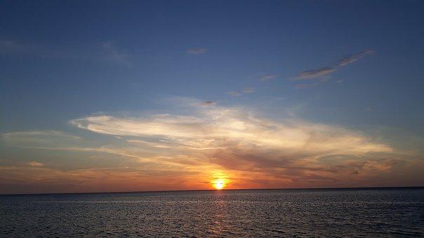 Sunset, Sea, Sky, Horizon, Dusk, Twilight, Sun, Ocean