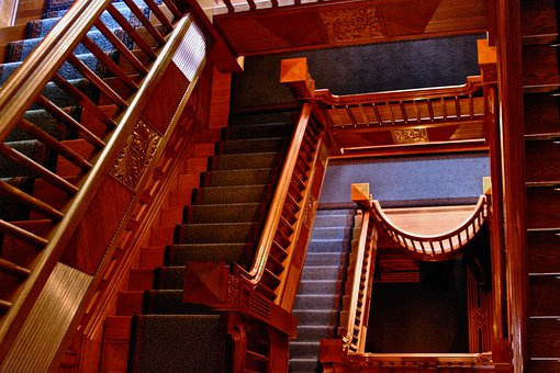 Castle, Stairwell, Staircase, Craigdarroch Castle