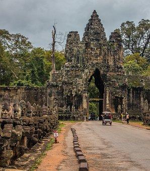 Angkor, Angkor Wat, Cambodia, Temple, Asia, Jungle