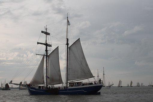 Boat, Ship, Ocean, Ketch, Sailing Ship, Gaff