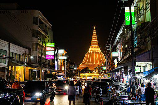 Thailand, Asia, Nakhon Pathom, Chedi, Culture, City