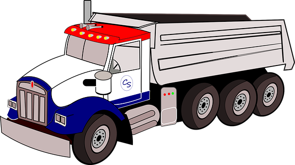 Kenworth, Dump Truck, Semi, Cartoon, Big Rig
