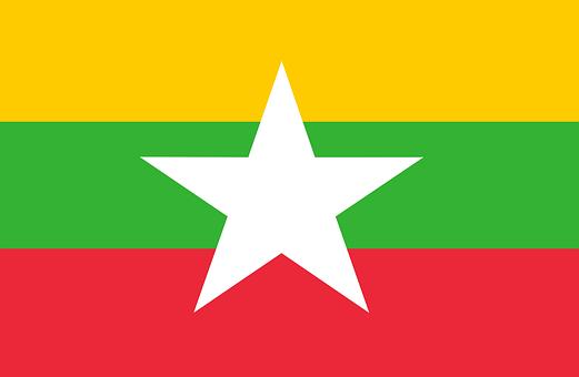Flag Of Myanmar, Country Flag, Myanmar Flag, Asia
