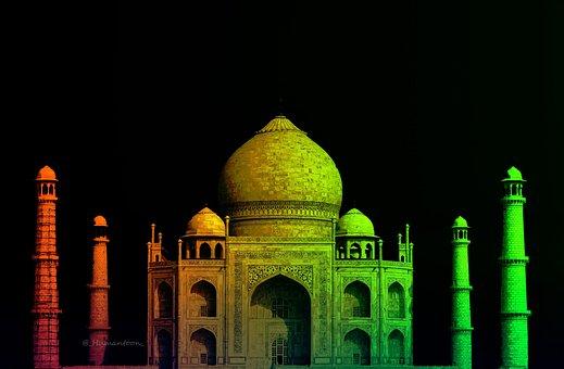 Sevenwonders, Taj, Edits, India, Monument, Tourism