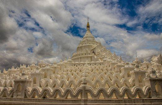 Mandalay, Mingun, Burma, Pagoda, Temple, Travel, Asia
