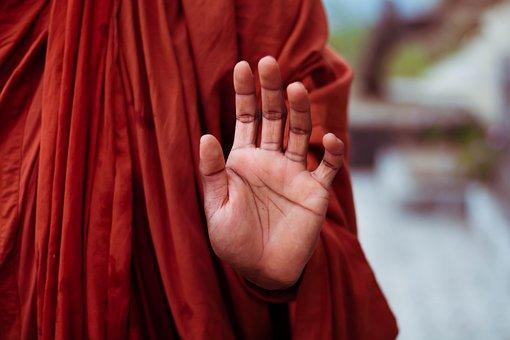 Monk, Hand, Mudra, Gesture, Meditation, Buddhism