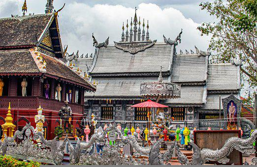 Thailand, Wat Sri Suphan, Silver Temple, Temple, Wat