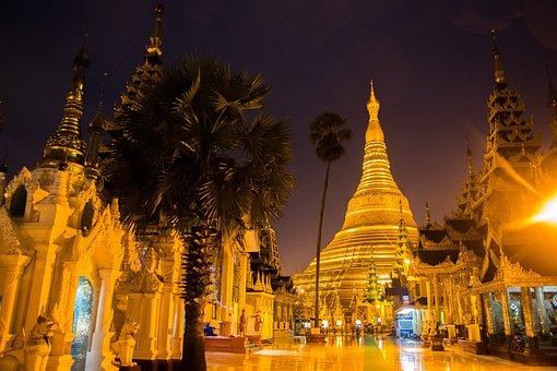 Shwedagon, Pagoda, Yangon, Myanmar, Buddhism, Temple