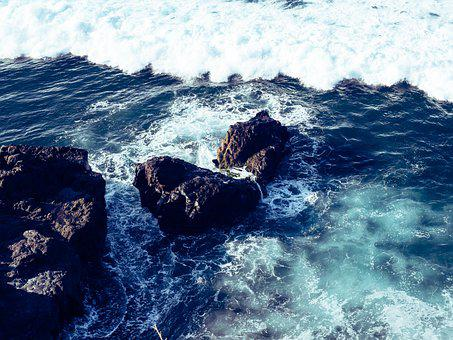 Sea, Waves, Rocks, Coast, Rock Formation, Bay, Ocean