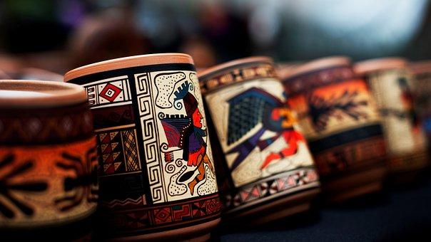 Cups, Hand Painted, Decorative, Mugs, Handicraft