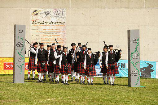 Highland Games, Scottish, Bagpipes, Chapel, Nature, Fun