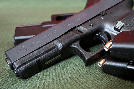 Gun, Pistol, Handgun, Weapon, Firearm, Glock, G20, 10mm