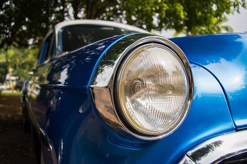 Headlights, Lights, Car, Auto, Transport, Vehicle