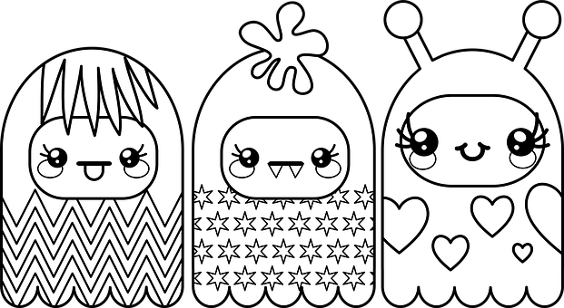Monsters, Faces, Characters, Funny, Adorable