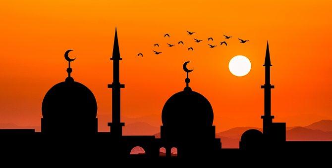 Mosque, Sun, Dusk, Silhouette, Orange Sky, Sky, Sunset
