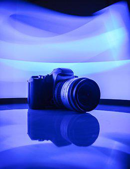 Blue, Camera, Photography, Photographer, Focus