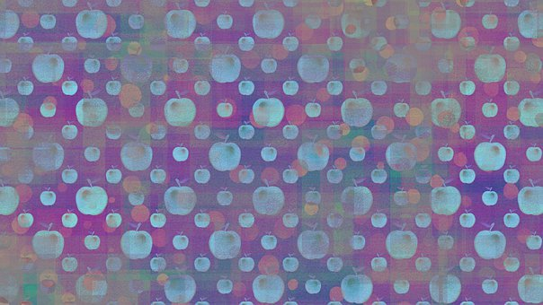 Apples, Fruits, Pattern, Seamless, Checkered, Plaid
