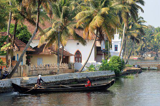 India, Wooden Boat, Water World