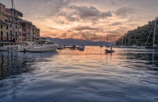 Town, Boats, Sea, Yacht, Port, Harbor, Village