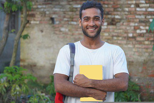 Man, Student, Books, College, Boy, Young, Person, Smile