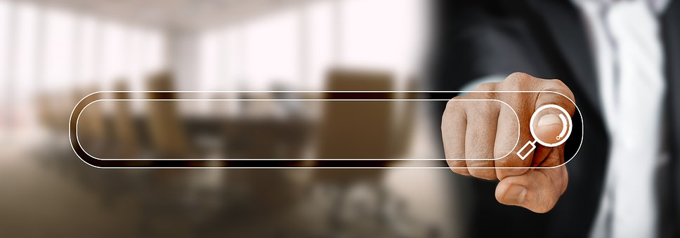Search Bar, Finger, Touch, Office, Conference