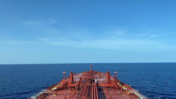 Ship, Sea, Horizon, Sky, Blue Sky, Ocean, Tanker