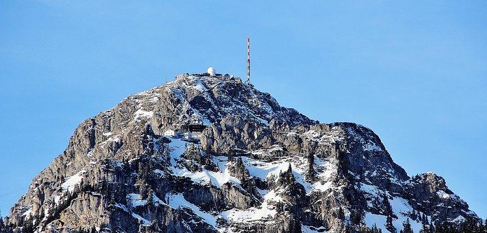 Mountain, Transmission Tower, Tv Station, Transmitter