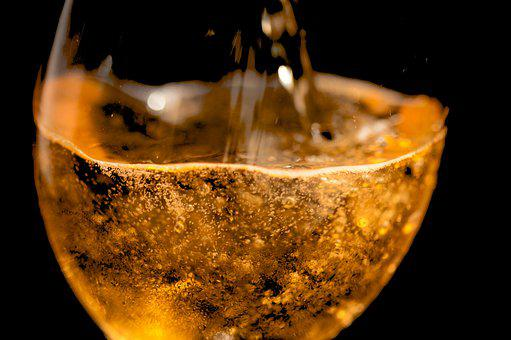 Cider, Alchool, Black Background, Liquid, Drink, Glass
