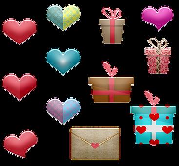 Hearts, Gifts, Valentine, Chocolates, Love, Romantic
