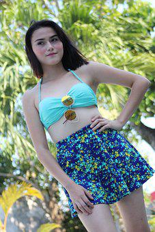 Woman, Swimsuit, Model, Sunglasses, Summer, Beach