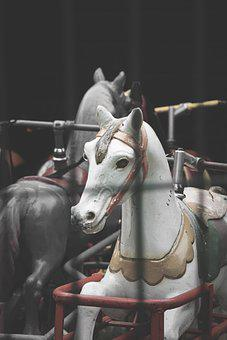 Horse, Amusement Park, Fun, Game, Children, Play, Ride