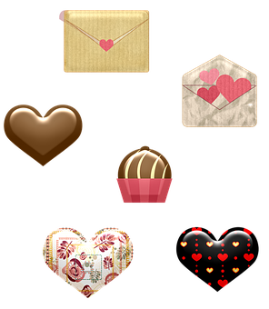 Hearts, Gifts, Valentine, Chocolates, Love, Romantic