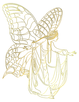 Fairy, Woman, Princess, Butterfly, Wings, Victorian