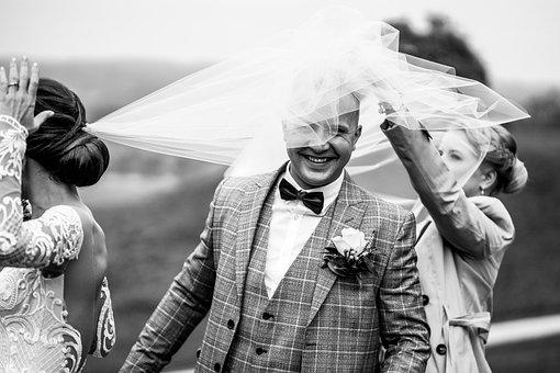 Newlyweds, Wedding, Groom, Bride, Bride And Groom