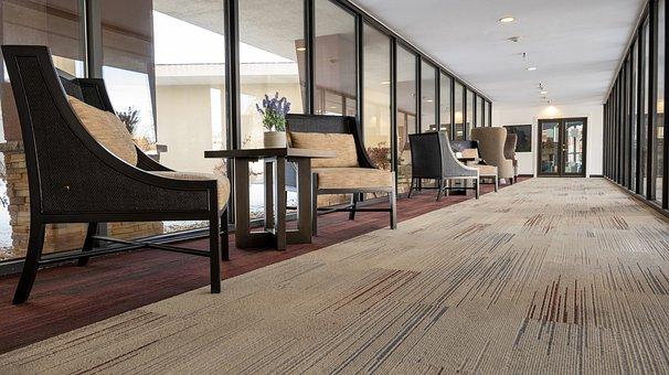 Corridor, Hallway, Business, Lobby, Chair, Windows