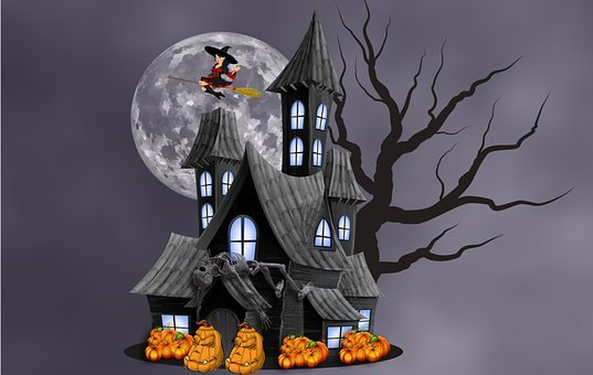 Haunted House, Witch, Witchcraft, Broomstick, Broom