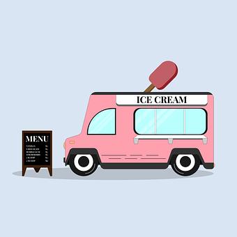 Food Truck, Ice Cream, Van, Truck, Ice Cream Truck