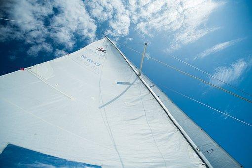 Sailing, Sails, Sky, Boat, Wind, Sail, Nautical