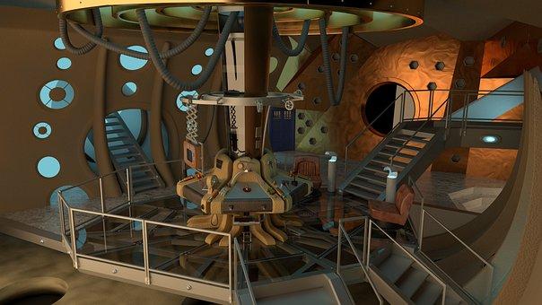 Space Ship, Interior, Doctor Who, Tardis, Alien