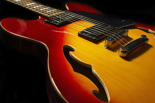 Guitar, Electric, Strings, Close Up, Music, Instrument