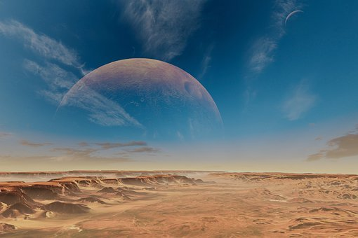 Planet, Moon, Space, Outer Space, Desert, Barren