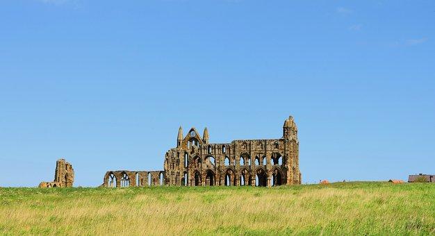 Whitby, Abbey, Dracula, Uk, England, Yorkshire