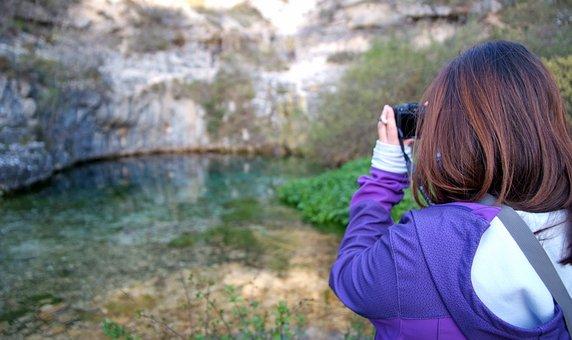 Photographer, Nature, Women, Blue Pit