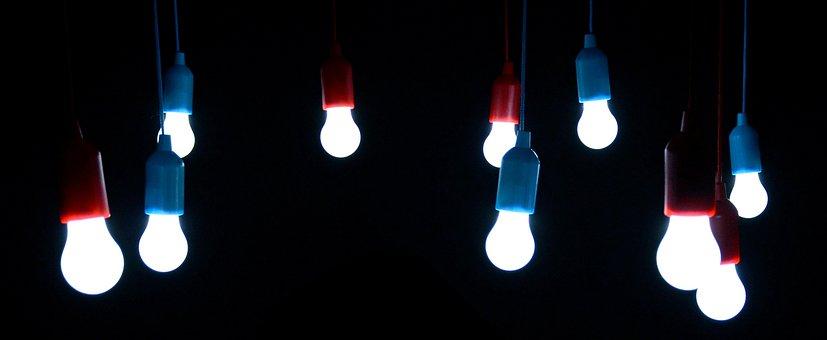 Light Bulbs, Shining, Bulbs, Lamps, Lamp Holders, Pear