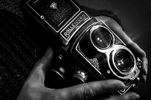 Camera, Photography, Vintage, Equipment, Rollei, Twin
